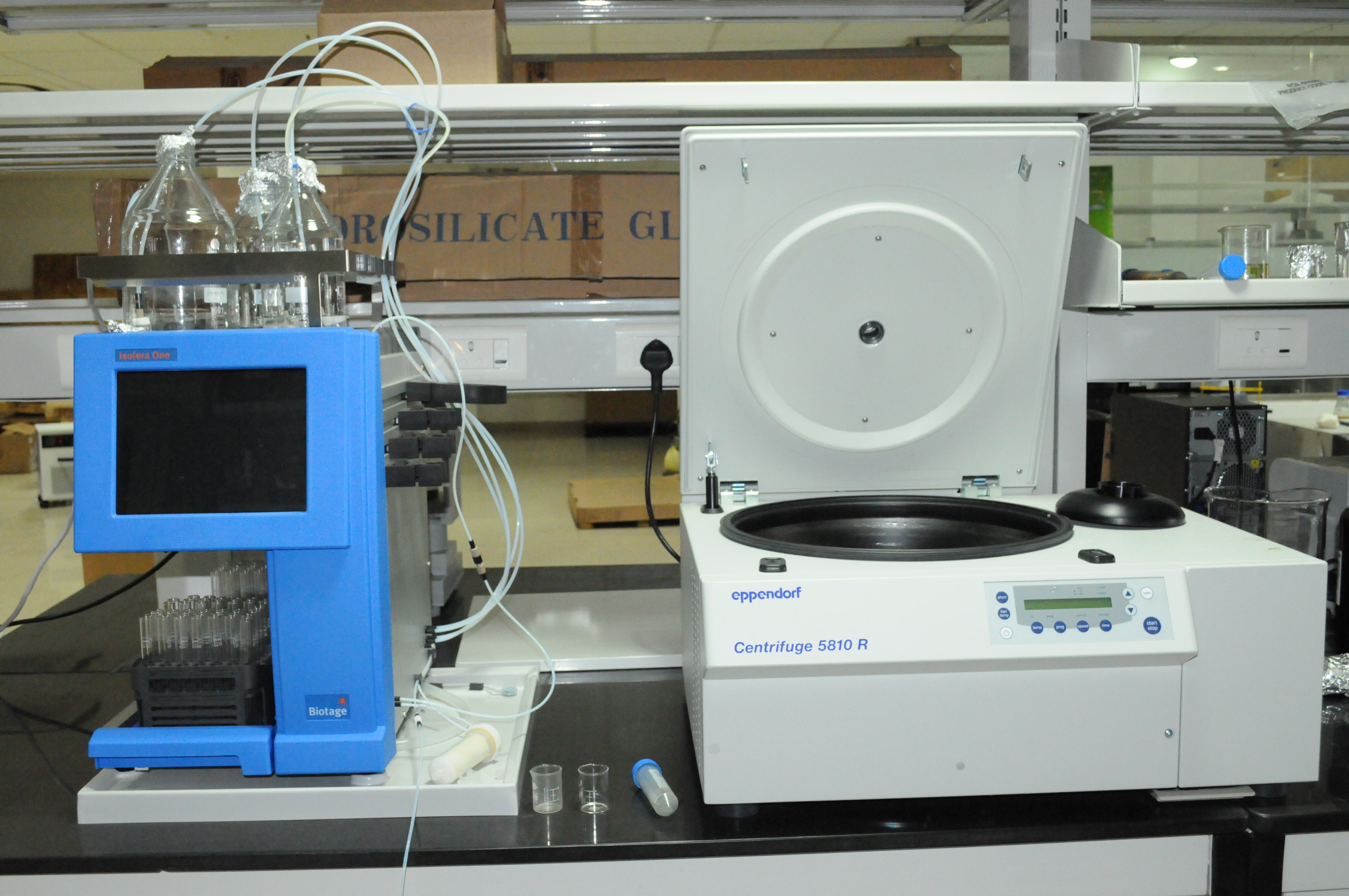 Flash chromatography- mass spectroscopy