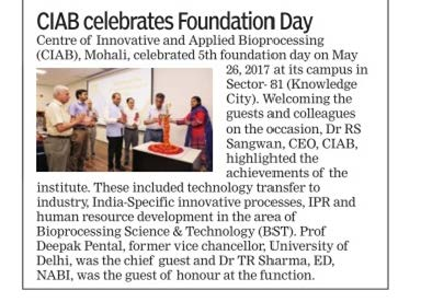 5th Foundation day - Press release